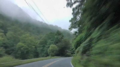 driving to lake lure
