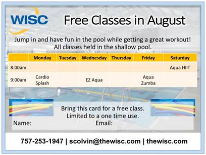 Free Coupon Aquatic Class