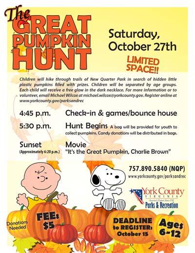 1st annual great pumpkin hunt at new quarter park williamsburg