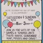 Trader Joe's Birthday Party - Saturday & Sunday Sept 22 & 23