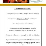 Adult volunteers needed for W&M research project
