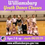 WilliamsburgRec Youth Dance Programs Now Registering! Creative Movement, Beginning Contemporary Ballet, and Contemporary Ballet