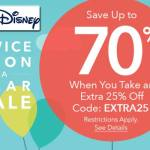 Big News for Disney Fans! Twice Upon a Year Sale - Up to 70% Off with Extra 25% at ShopDisney - details: