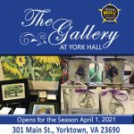 The Gallery at York Hall Opens on April 1st for the 2021 Season