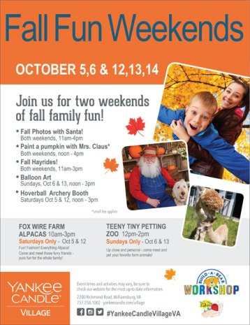 Yankee Fall Fun Weekends