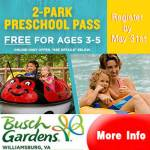 Time to get your FREE Busch Gardens Williamsburg - Preschool Pass 2020