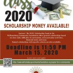 WJCC High School Seniors! Deadline for WJCC Scholarship applications is March 15!