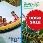 BOGO FREE! Buy Busch Gardens, Get Water Country USA FREE! Plus Waves of Honor and Membership discounts!