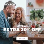 Groupon Alert: Up to 30% Off