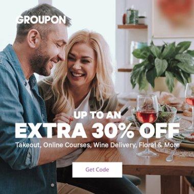 groupon save 30 code