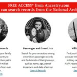 FREE* ACCESS: SEARCH RECORDS FROM THE NATIONAL ARCHIVES from Ancestry.com!