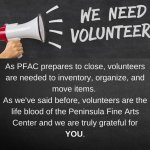 Peninsula Fine Arts Center Volunteer Opportunities