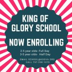 King of Glory Preschool is Enrolling for Full/Half Day Preschool