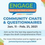 Participate in shaping the future of James City County through Engage 2045