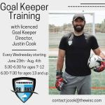 Goal Keeper Training with licensed Goal Keeper Director, Justin Cook