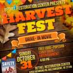 Harvest Fest with Drive-In Movie on Halloween at Bethel Restoration Center - FREE event