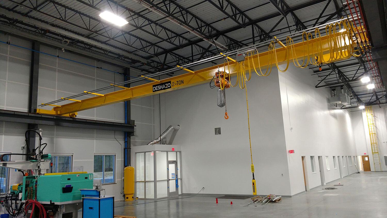 2 Ton DeShazo Single Girder Bridge Crane with Harrington NERM Chain Hoist