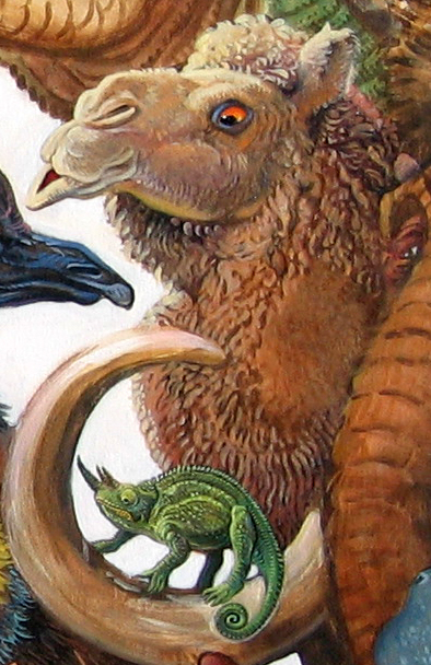 Menagerie – Chameleon & Camel Detail