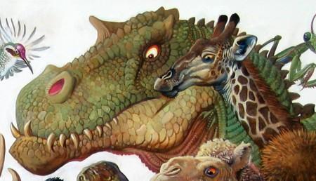 Menagerie –T. Rex and Giraffe Detail