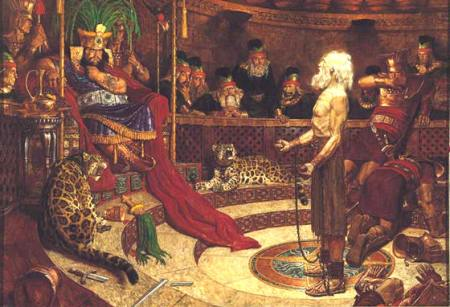 Abinadi Delivers His Message to King Noah by Arnold Friberg