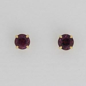 Purple spinel earstuds