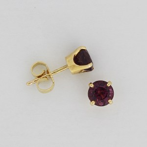 Purple spinel earstuds