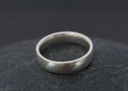 mans wedding band in sterling silver
