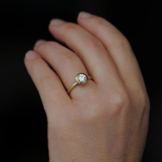 Brilliant cut moissanite ring with real sparkle