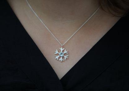 snowflake necklace silver