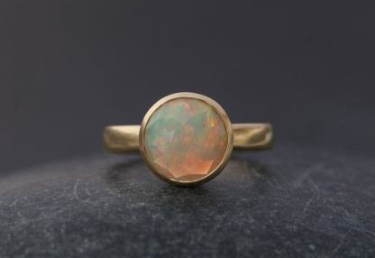 big opal ring in 18K gold