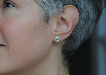 sky blue topaz 7mm stud earrings silver