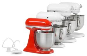 variety of kitchen mixers