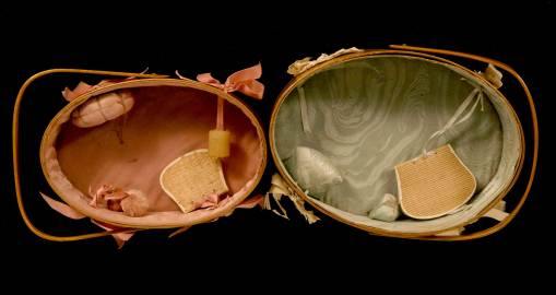 Lot 22: Two Oval Sewing Carriers