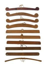 Lot 81: Ten Hangers (or Shoulder Boards)