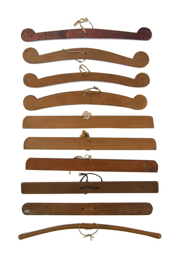 Lot 81: Ten Hangers (or Shoulder Boards)