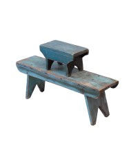 Lot 103: Two Blue Benches