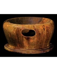 Lot 115C: 19th C. New England Redware Spittoon