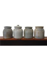 Lot 123: Four Small Stoneware Crocks