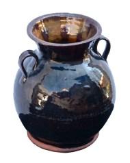 Lot 128: 19th C. Redware Urn or Vase