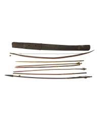 Lot 144E: Zulu Bow, Quiver and Arrows