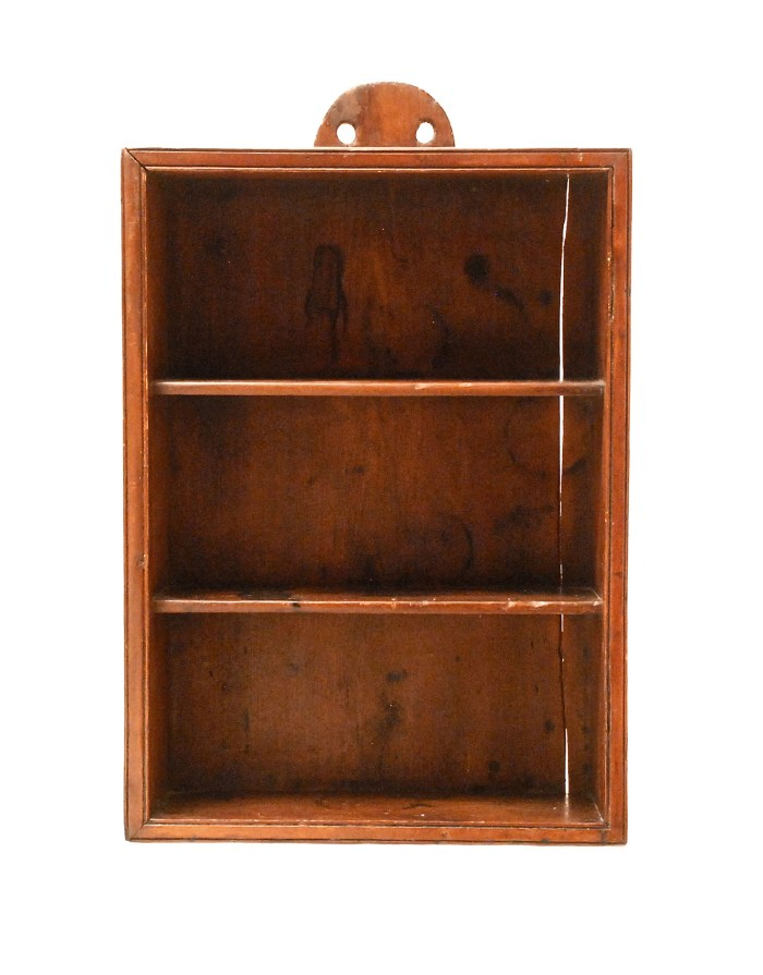 Lot 163: 19th C. Country Pine Shelf