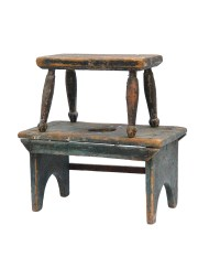 Lot 169A: Two 19th C. Wood Stools