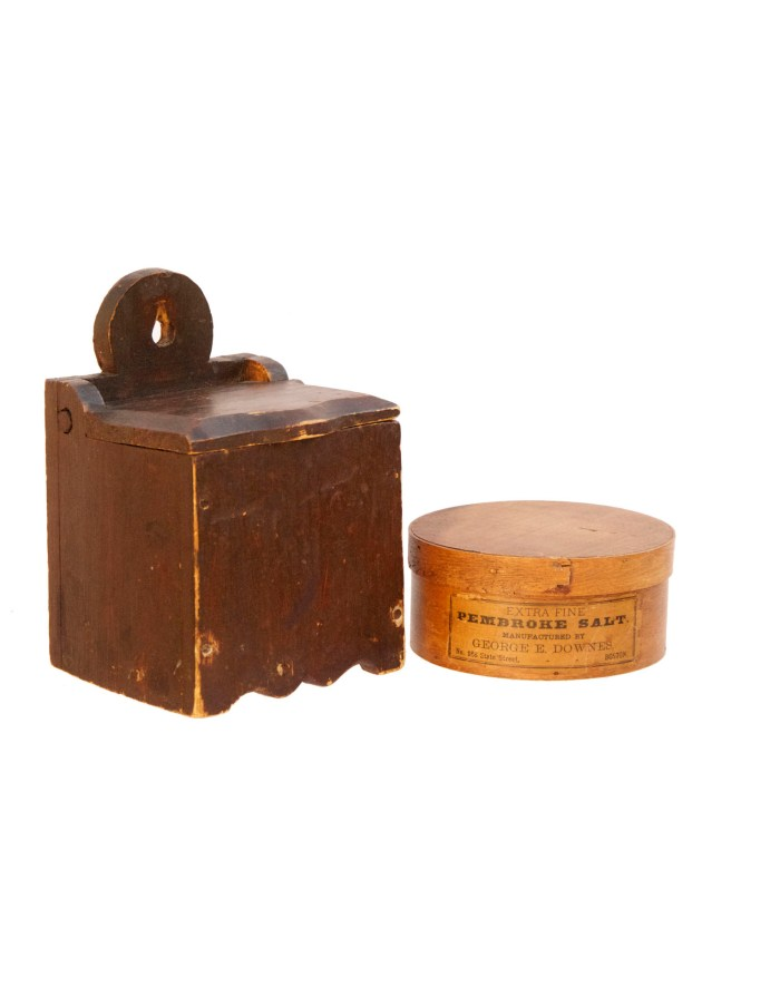 Lot 194: Two 19th C. Salt Boxes