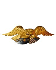 Lot 196: Mid 20th C. Carved Eagle