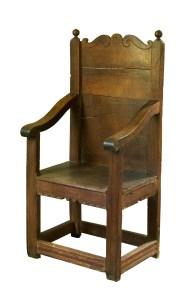 Lot 220: 17th C. Style Oak Armchair