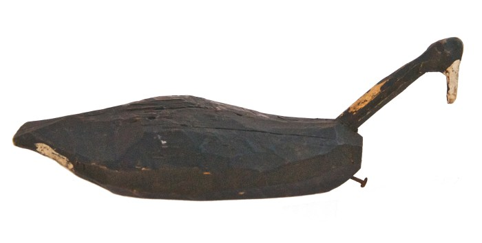 Lot 221: Root Head Decoy and Powder Flask