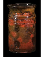 Lot 23C: Tall Cylindrical New England Redware Pot