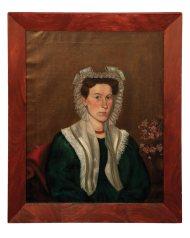 Lot 32: Pair of 19th C. American Portraits