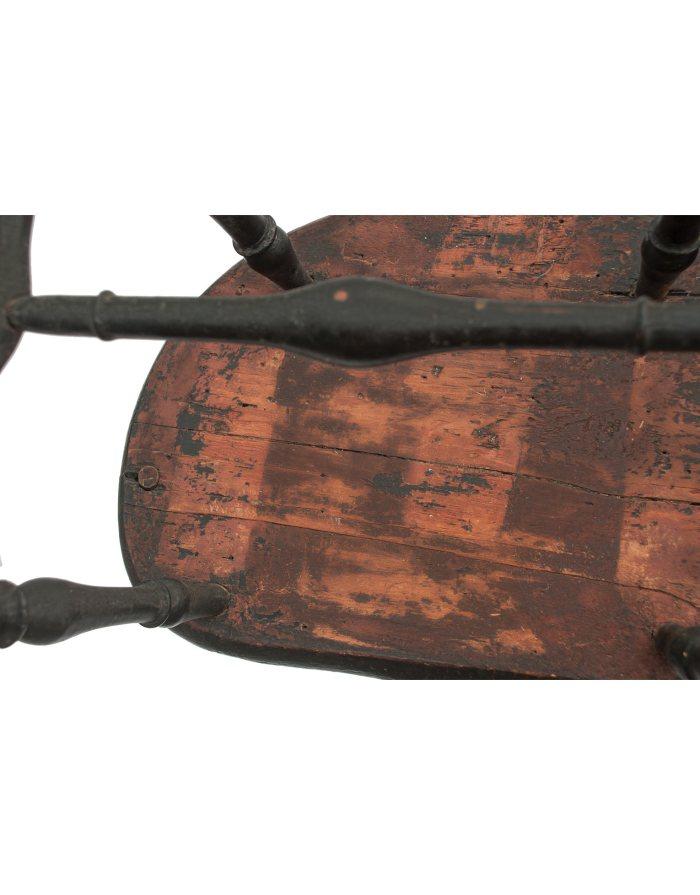 Lot 44B: 18th C. New England Windsor Armchair