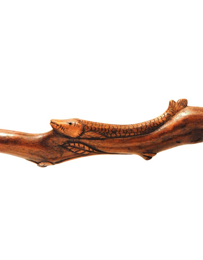 Lot 47: Folk Art Carved Cane